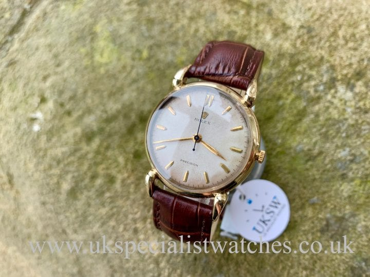 Rolex Precision Fancy Lugs 4747 – 9K Gold – Vintage 1950s