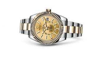 2017 Rolex Sky-Dweller In Stainless Steel & 18ct yellow Gold With The Champagne Dial