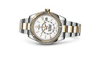 2017 Rolex Sky-Dweller In Stainless Steel & 18ct yellow Gold With The White Dial