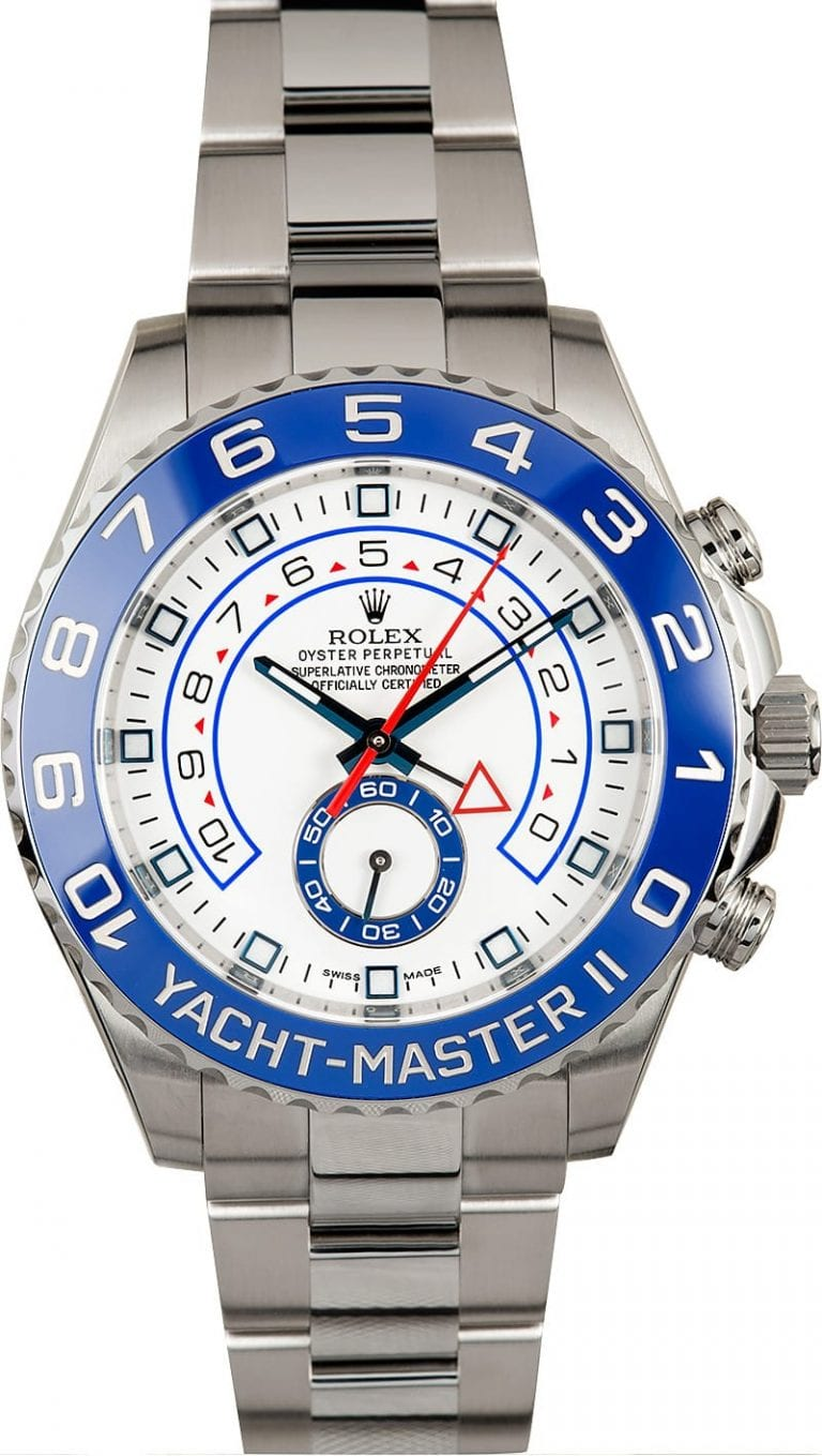 yacht master 2 stainless steel rolex