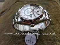 UK Specialist Watches have a 2017 Stainless Steel Rolex Sky-Dweller with a white dial 326934