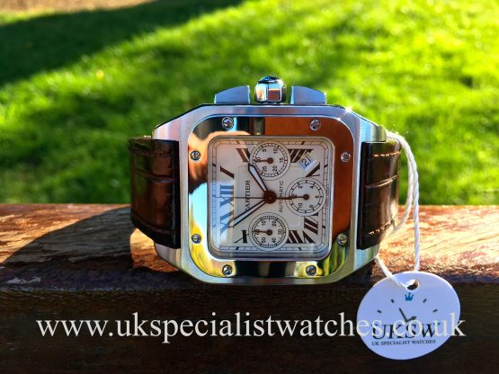 UK Specialist Watches have a Cartier Santos 100XL Chronograph - Stainless Steel - 2740