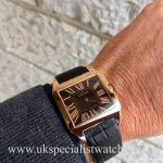 UK Specialist Watches have a Rose Gold Cartier Santos Dumont with a rare chocolate dial W2006951