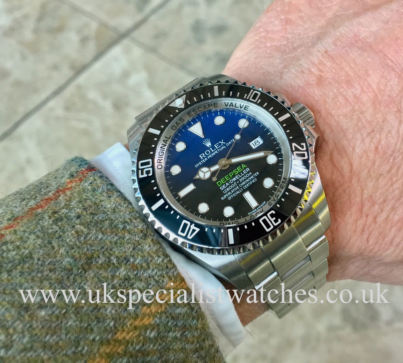 f6f8a000605 UK Specialist Watches have a Rolex Deepsea D-Blue - James Cameron Edition