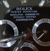 UK Specialist watches have a rare Rolex Daytona Cosmograph with a very rare Black Error Dial – 116520