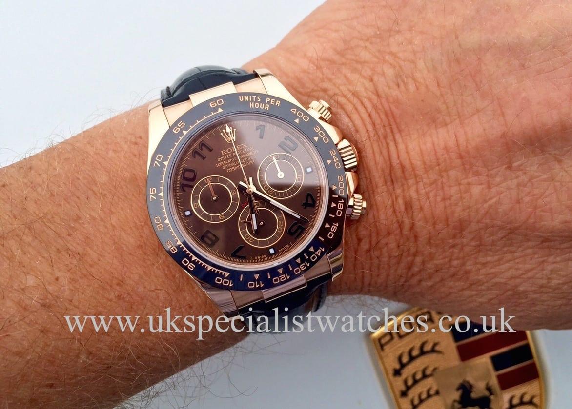 Rolex Daytona Rose Gold Chocolate Dial Ceramic 116515ln