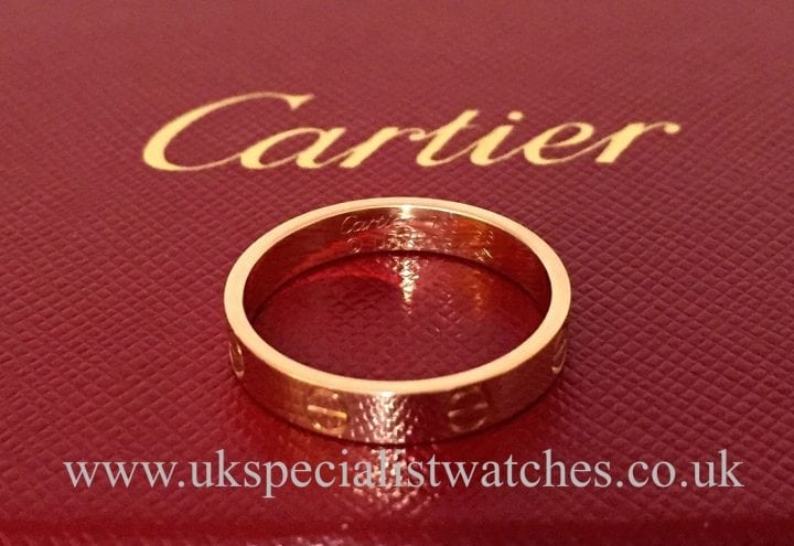 UK Specialist Watches have the beautiful Cartier Rose Gold Love Ring - Size 56 -