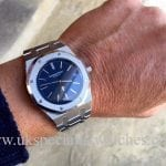 Ultra thin Audemars Piguet Royal Oak with Blue Dial-15202ST.OO.1240ST.01