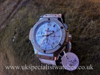 Hublot Big Bang Mother Of Pearl - Diamond Bezel - 341.SG.600.LS.114