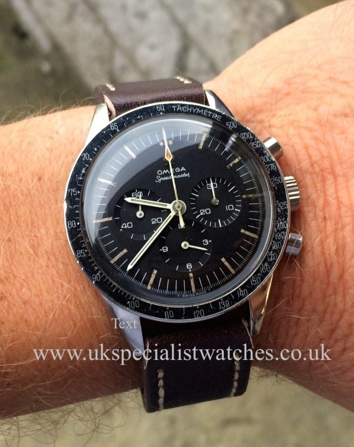 UK Specialist Watches have for sale a Vintage Omega Speedmaster - S 105-003 -1964 Vintage-Pre Moon ( pre professional ) with a Cal 321 movement