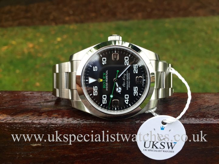 UK Specialist Watches have a NEW UNUSED Rolex Air King 40mm - New Model -116900