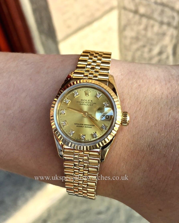 rolex lady datejust gold jubilee bracelet 69178 rolex. Black Bedroom Furniture Sets. Home Design Ideas