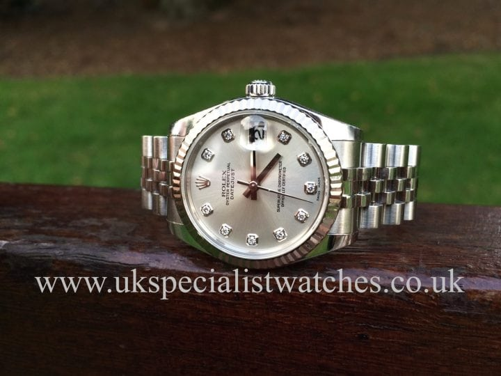 UKSpecialist watches have a lovelyRolex Datejust Midsize with a 31mm case and a Diamond Dial -178274