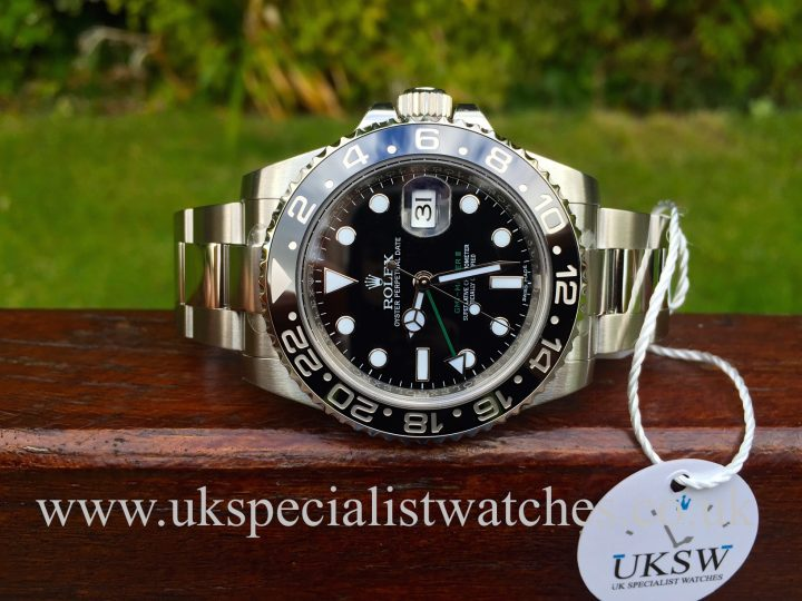 UK Specialist watches have a new 2016 Rolex GMT Master 116710LN