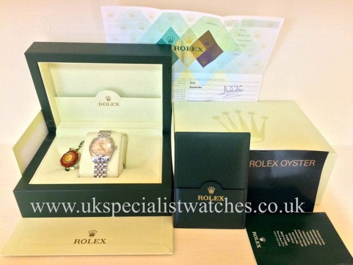 UK Specialist watches have a lovelyRolex Datejust Midsize with a 31mm case and a Diamond Dial -178274