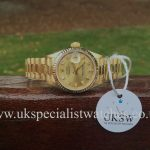 UK Specialist Watches have an 18ct Gold Ladies Datejust President 69178 - Full set 1993.