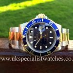 UK Specialist watches have a stunning Rolex Submariner Date with a electric Blue Dial - Steel & Gold 16613