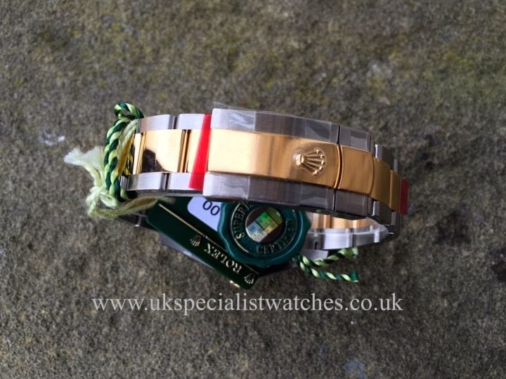 UK Specialist Watches have brand new unworn Rolex Datejust II Gold & Steel - Black Dial - 116333