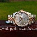 UK Specialist Watches have a brand new unwon Rolex Datejust Rose Gold & Steel Diamond Dial 116231 - New Unused
