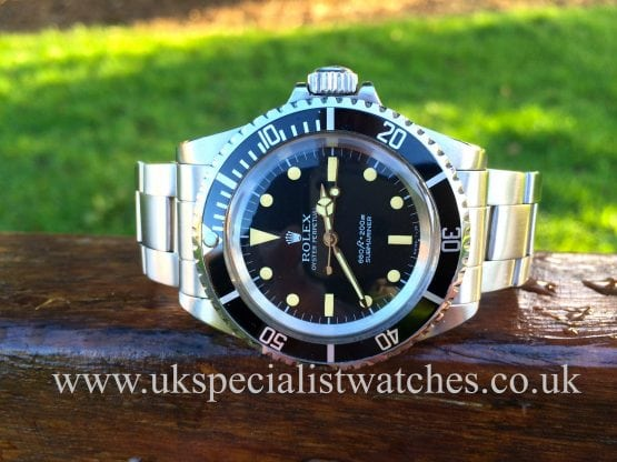 Rolex Submariner 5513 vintage 1966 for sale at uk specialist watches