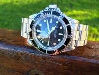 Rolex vintage Submariner 5513 topper dial domed glass