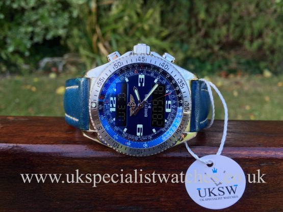 UK Specialist Watches have a rare Breitling B-1 Professional Digital Alarm Chronograph - Blue Dial - A68362