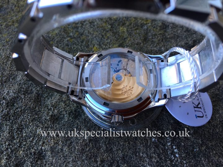 UK Specialist Watches have a rare, one owner, full set Patek Philippe Aquanaut 5066/1A in stainless steel.