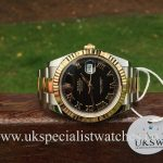UK Specialist watches have a new model 2017 Rolex Datejust II Steel & 18ct Gold – 41mm with a Black Roman Dial – 116333