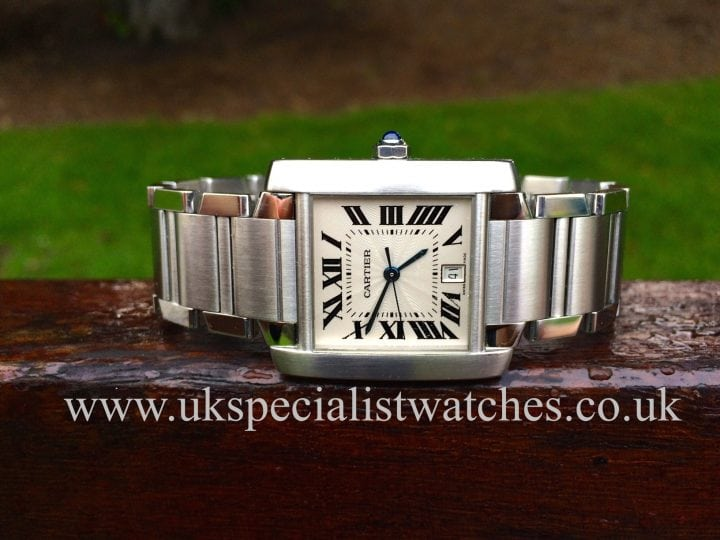For sale at UK Specialist Watches Cartier Tank Francaise Steel 2302 Gents Automatic
