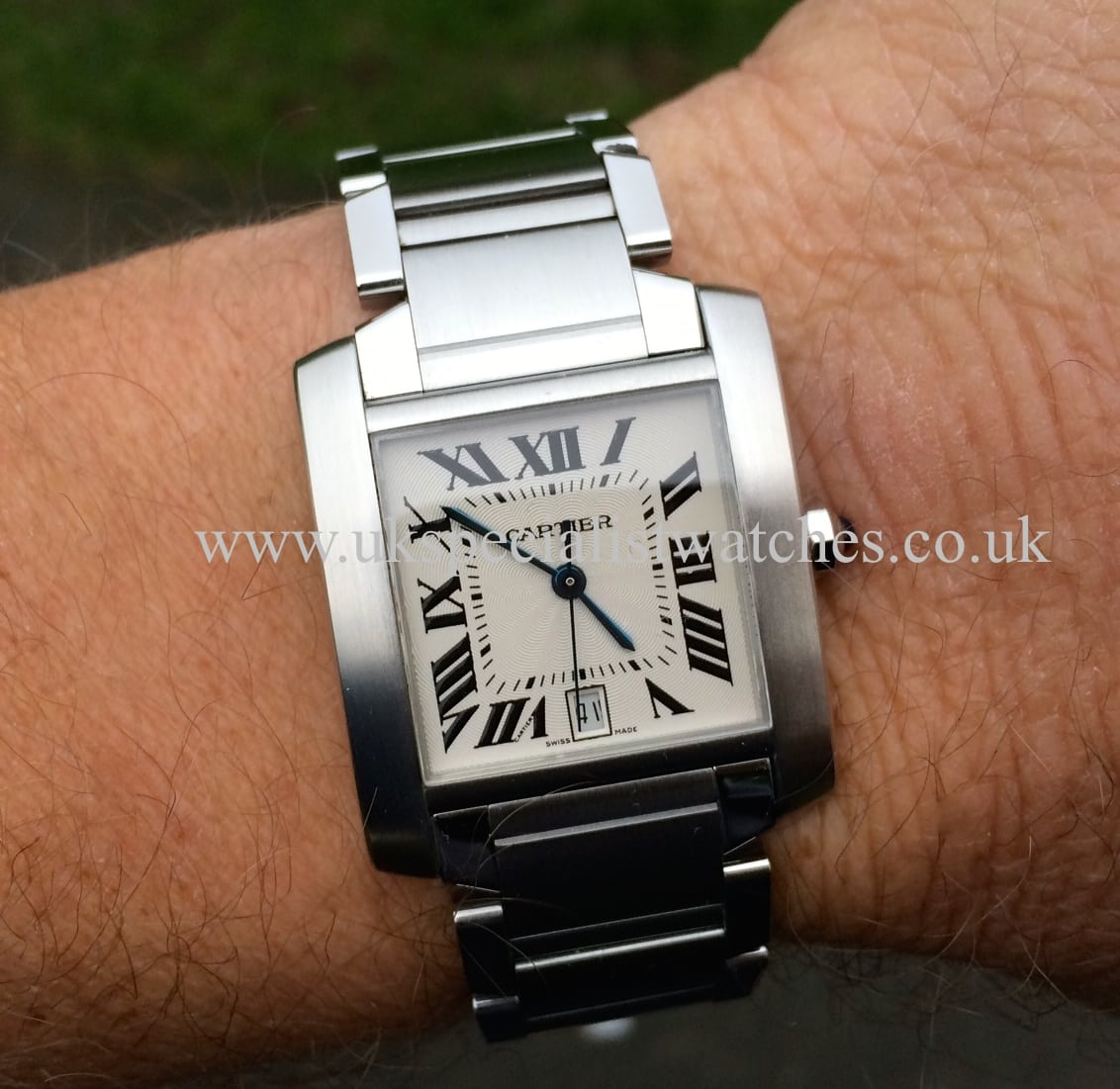 fce27084346 For sale at UK Specialist Watches Cartier Tank Francaise Steel 2302 Gents  Automatic