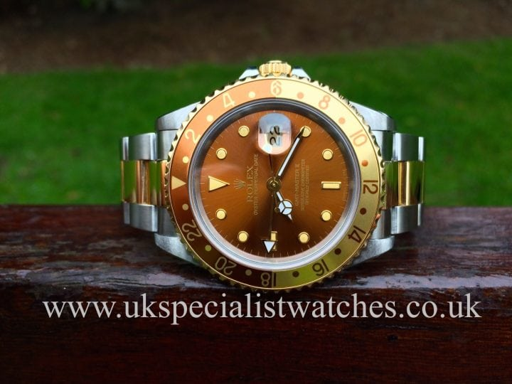 Rare Rolex root beer GMT in stock at UK Specialist Watches