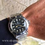 UK Specialist Watches have a rare vintage Rolex Submariner 5513 with the very rare serif dial 1977.