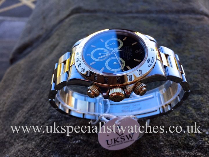 UK Specialist Watches have a rare 1991 Rolex Daytona Zenith in stainless steel and 18ct gold with an inverted 6 dial - 16523