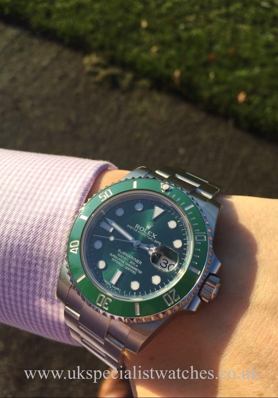 """UK Specialist Watches have a brand new unworn Rolex Submariner """"Hulk"""" 116610LV"""