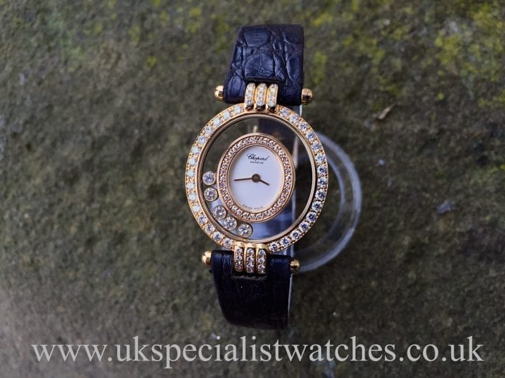 UK Specialist Watches have a Chopard 18ct Happy Diamonds 20/5966 Full Diamond Set
