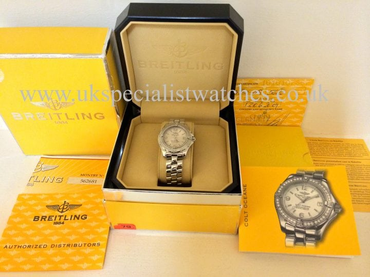 "for sale at uk specialist watches Breitling Colt Ocean 33 ""ladies"" A77350"