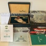 "For sale at UK Specialist Watches Rolex Datejust Gold & Steel ""full set"" Vintage 16013"