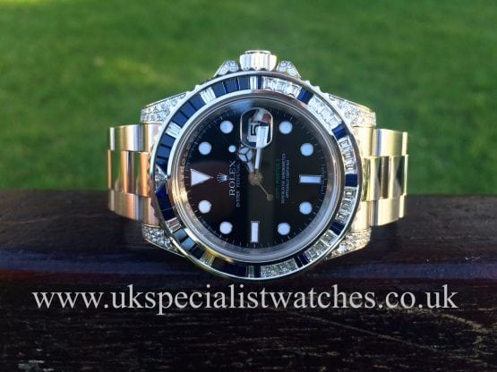 UK SpecialistWatches have a absolutely stunning Rolex 116759 SA GMT-Master II White Gold Diamond set