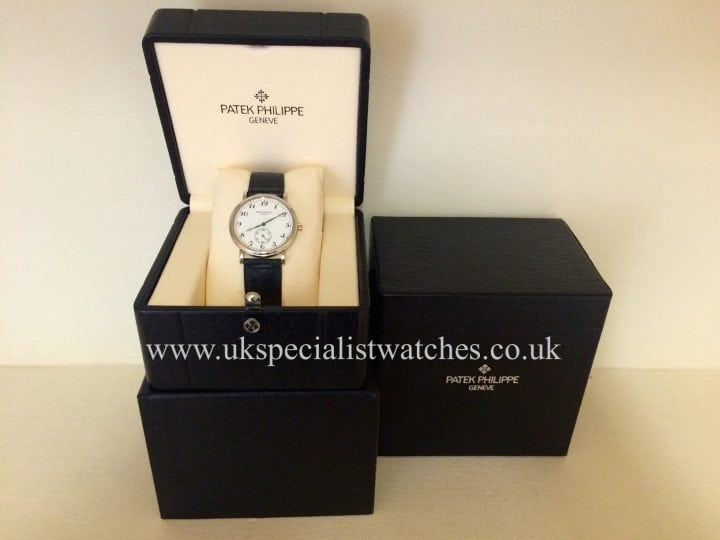 In stock at UK Specialist Watches 18 ct White Gold Patek Philippe Calatrava - 5022 G