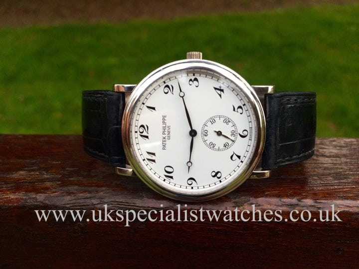 In sock at UK Specialist Watches 18 ct White Gold Patek Philippe Calatrava - 5022 G