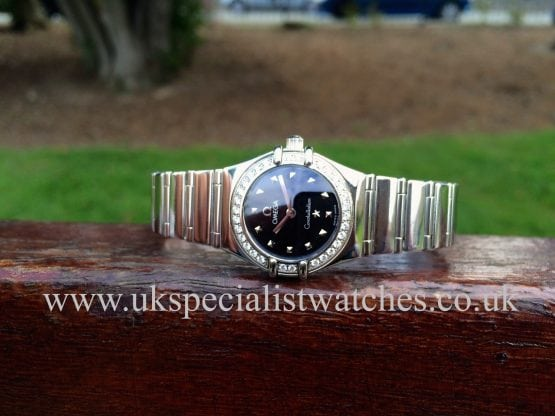 UK Specialist watches have for sale a Omega Constellation Ladies with a Diamond bezel