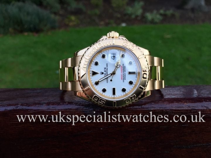 UK Specialist Watches have a Rolex Yacht-master Gents 40mm Gold 16628 - White Dial