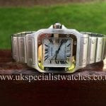 UK Specialist Watches have Cartier Santos Galbee with a stunning Limited edition Platinum Blue Dial