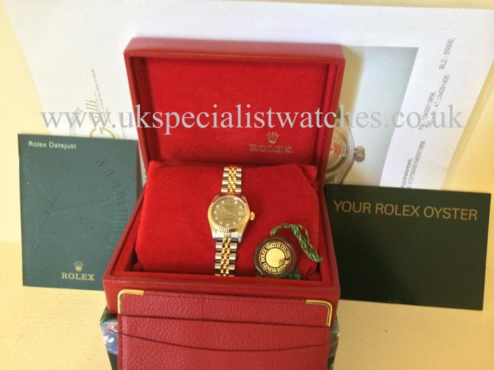 For sale at UK Specialist Watches Rolex Lady-Datejust 26mm Gold & Steel - 'Diamond Dial