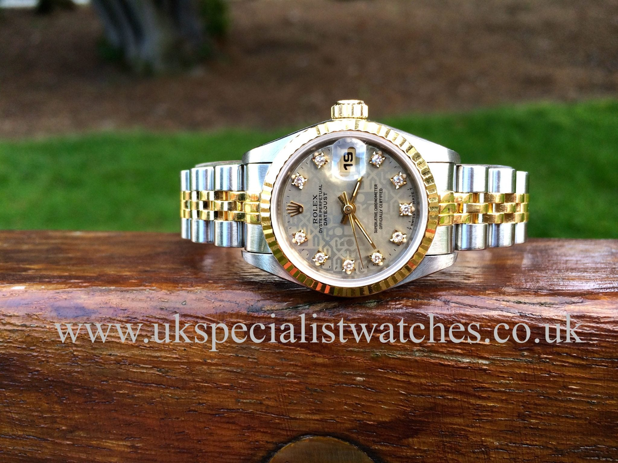 Rolex Lady-Datejust Gold & Steel -jubilee 'Diamond Dial' 69173
