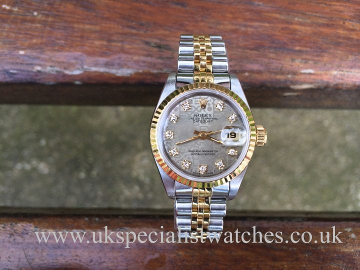 For sale at UK Specialist Watches Rolex Lady-Datejust 26mm Gold & Steel - 'Diamond Dial'