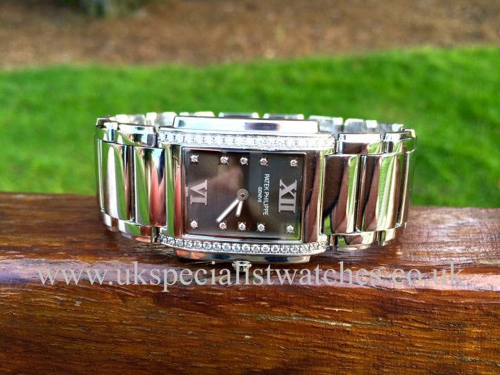 For sale at UK Specialist Watches Patek Philippe Twenty-4 Diamond ladies- ref 4910/10A-010