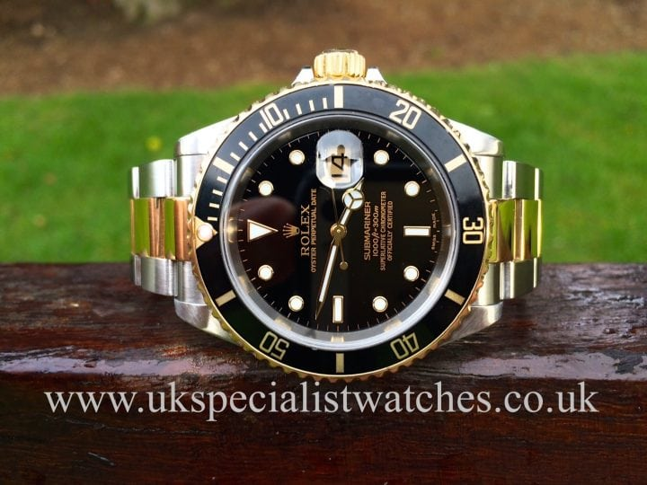 Rolex Submariner Date Steel & Gold 16613 with a Black Dial available at UK Specialist Watches