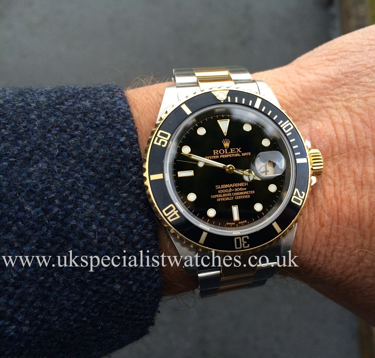 Rolex Submariner Date Steel & Gold 16613 - Black Dial - UK ...
