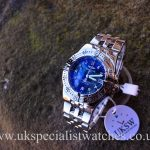 UK Specialist Watches have a Ladies Breitling Starliner with a factory blue mother of pearl diamond dial - A71340
